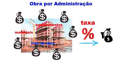 Modalidade de contrato de obra: obra por administração