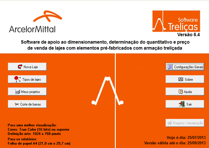 Dimensionamento de Treliças para Lajes | Arcelor Mittal