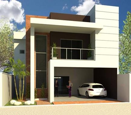 Quanto vai custar minha obra - fachada de um projeto de casa