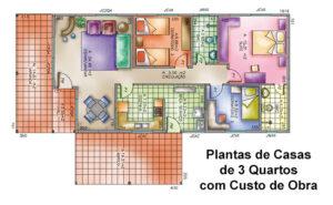 Plantas de Casas 3 Quartos com Custo de Obra