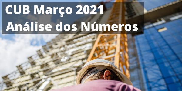 CUB de Março de 2021 Análise dos Números